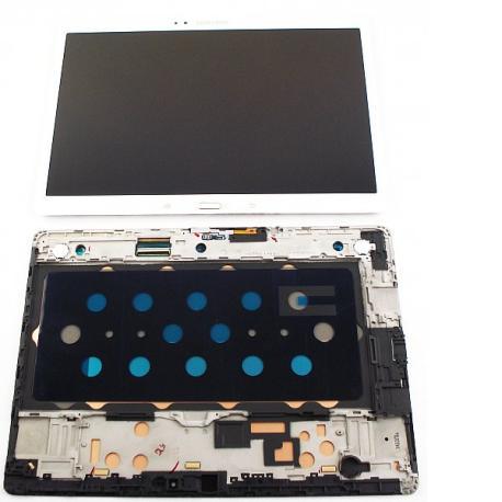 Pantalla LCD Display + Tactil con Marco para Samsung Galaxy Tab S 10.5 SM-T800, T805 - Blanca