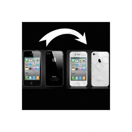 Cambia tu iphone 4g NEGRO a BLANCO con este kit