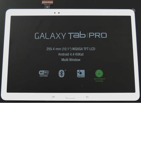 Pantalla LCD Display + Tactil con Marco Original para SAMSUNG Galaxy Tab Pro 10.1 T520,T525 - Blanco LIQUIDACION