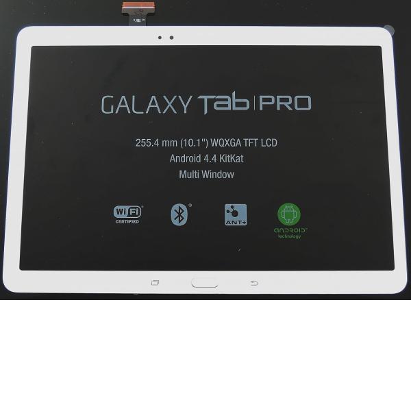 Pantalla LCD Display + Tactil con Marco Original para SAMSUNG Galaxy Tab Pro 10.1 T520,T525 - Blanco