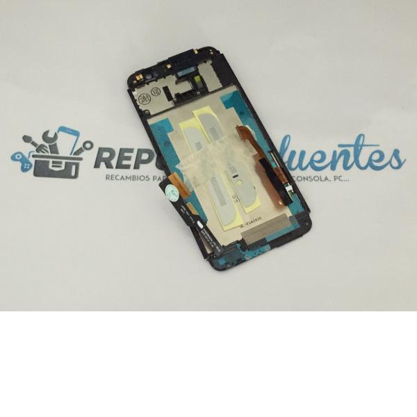 Pantalla Tactil + LCD Display con Marco para HTC One E8 - Blanca