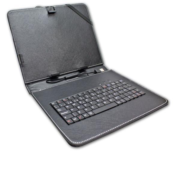 Funda de Tablet con Teclado de 9.7 Pulgadas - Negra