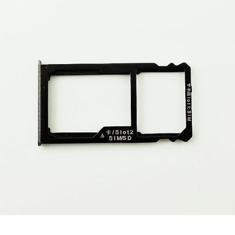 Bandeja de Tarjeta SIM y MicroSD para Huawei Mate S - Negra
