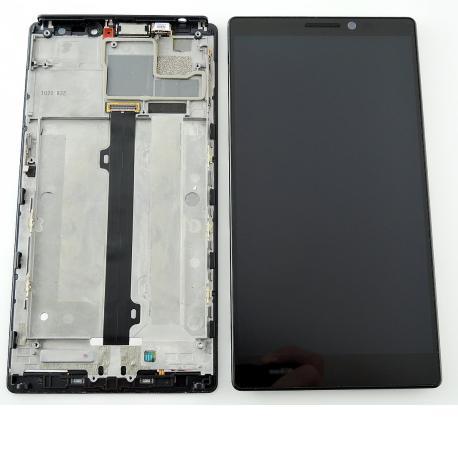 Pantalla LCD Display + Tactil con Marco para Lenovo K920 - Negro