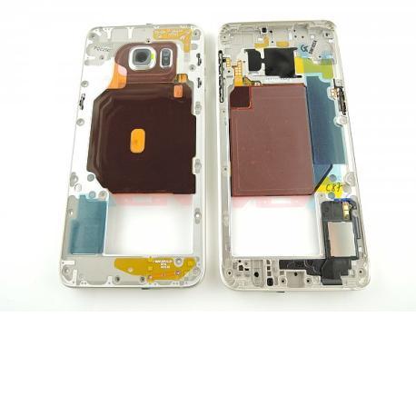 Carcasa Intermedia con Lente Original para Samsung Galaxy S6 Edge+ Plus SM-G928F - Oro
