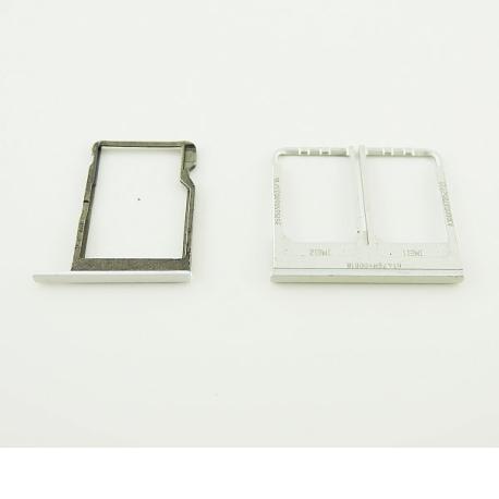 Bandeja de Tarjeta SIM y SD para HTC One E8 DUAL - Blanca