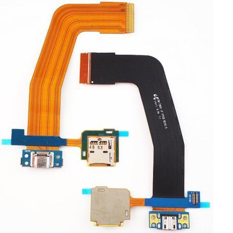 Repuesto Flex de Carga + Lector SIM para Galaxy T805, T800