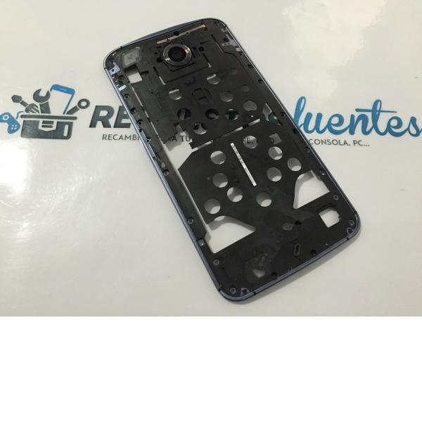 Carcasa Intermedia Original Motorola Google Nexus 6 - Azul