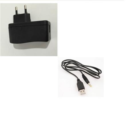 Cargador de Red para Tablet - 5V 2000mA + Cable Datos USB de 5.5 mm