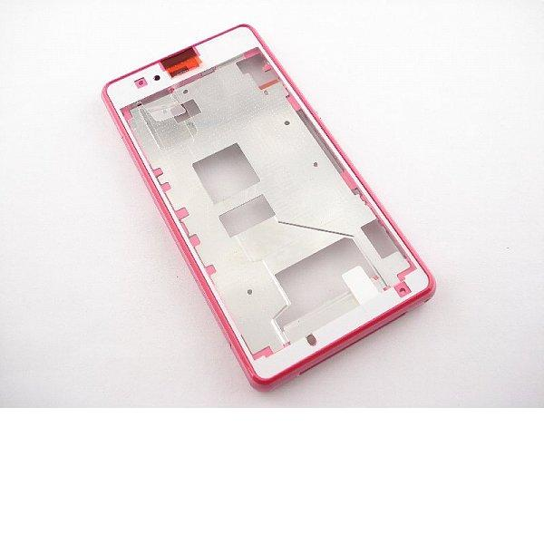Marco Frontal para Sony Xperia Z1 Compact Z1C - Rosa