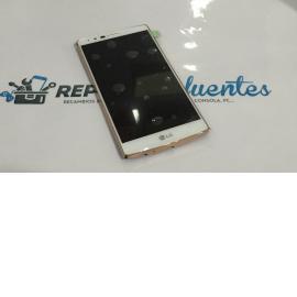 Pantalla Tactil + LCD Display con Marco Original para LG G4 H815, G4 Dual H818 Blanco / Oro