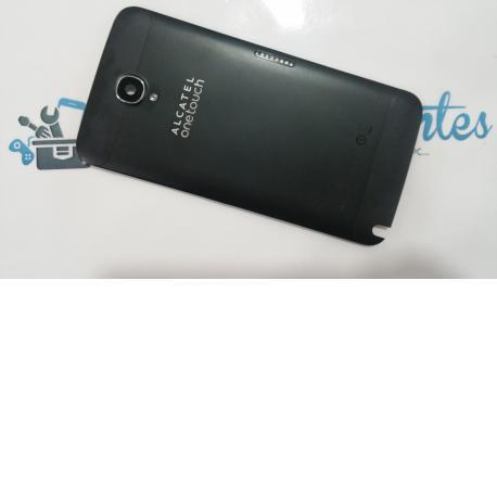 Carcasa trasera de la bateria Alcatel one touch hero 2, OT 8030Y negra - Recuperada