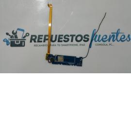 Modulo de antena + cable coaxil + vibrador + flex de carga MasterPhone 6S - Recuperado