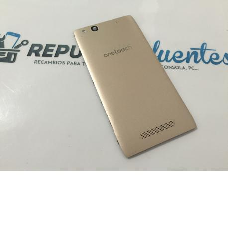 Tapa Trasera Original Alcatel ONE Touch Idol Alpha OT-6032 Oro - Recuperada
