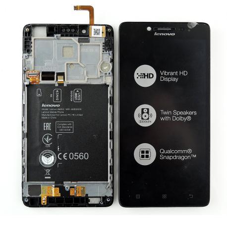 Pantalla LCD Display + Tactil con Marco para Lenovo A6000 - Negro