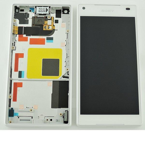 Pantalla LCD Display + Tactil con Marco Original para Sony Z5 Compact E5823, E5803 - Blanco