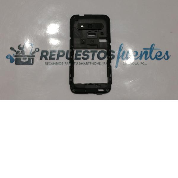 Carcasa intermedia con lente ALCATEL V975 VODAFONE SMART 3 negra - Recuperada