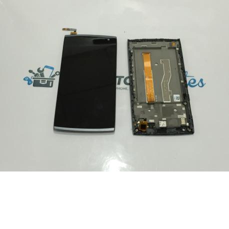 Pantalla Display Lcd + Tactil con Marco Alcatel M812 Orange Nura - Negra