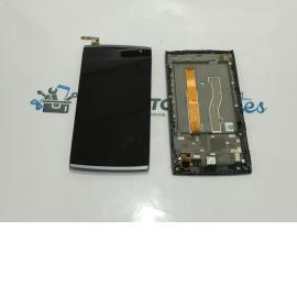 Pantalla Display Lcd + Tactil con Marco Alcatel M812 Orange Nura - Negra / Desmontaje