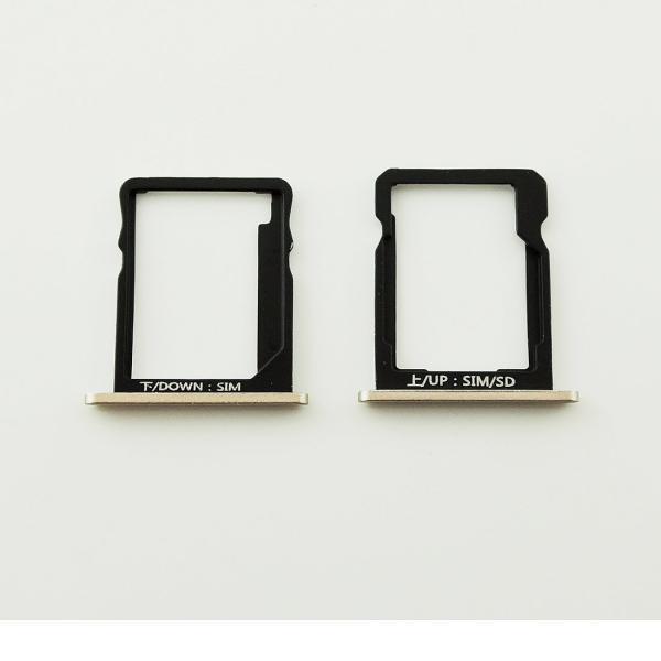 Set de Bandeja de Tarjeta SIM y SD para Huawei G7 - Oro