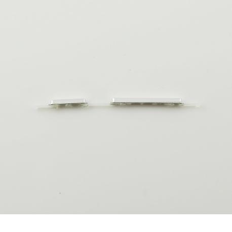 Botones de Encendido y Volumen para Huawei Mate 7 - Blanco
