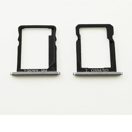 Set de Bandeja de Tarjeta SIM y SD para Huawei G7 - Negro