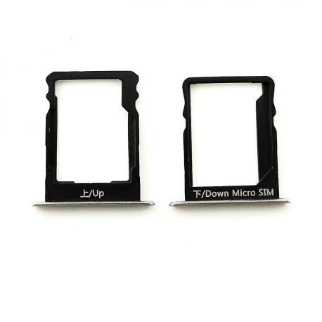 Bandejas de Tarjeta SIM y SD Original para Huawei P8 Lite - Blanco