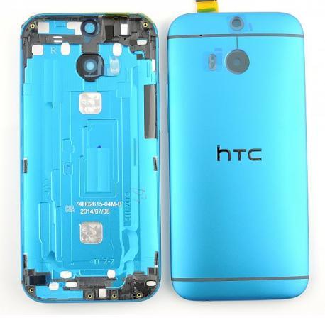 Carcasa Tapa Trasera de Bateria Original con Lente para HTC ONE M8 - Azul