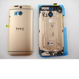 Carcasa Tapa Trasera de Bateria con Lente para HTC ONE M8 - Oro