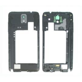 Carcasa intermedia con lente de camara para Samsung Galaxy Note 3 N9005 - Negra