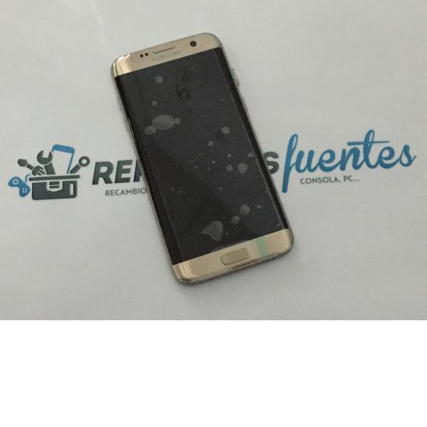 Pantalla LCD Display + Tactil con Marco Original para Samsung Galaxy S7 Edge SM-G935F - Oro