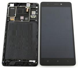 Pantalla LCD Display + Tactil Original con Marco para Lenovo A7000 - Negra