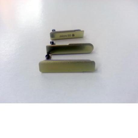 Set de Tapaderas para Sony Xperia Z1 Compact D5503 - Amarillas