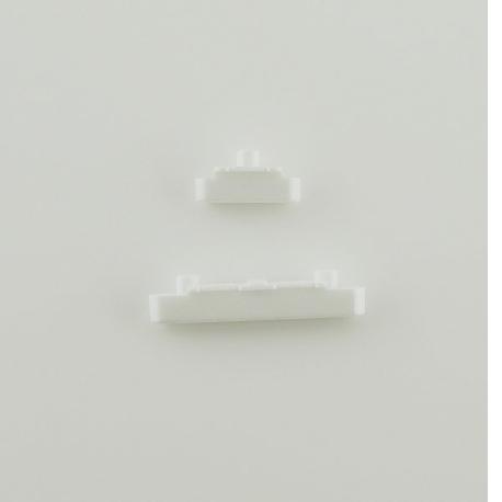 Boton de Camara y Volumen para Sony Z5 compact E5823 - Blanco