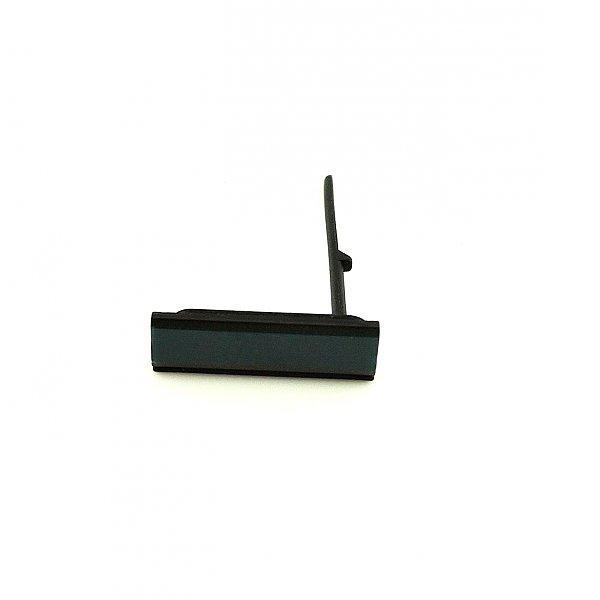 Tapa de Conector Micro USB para Sony Xperia M2 Aqua D2403 D2406 - Negra