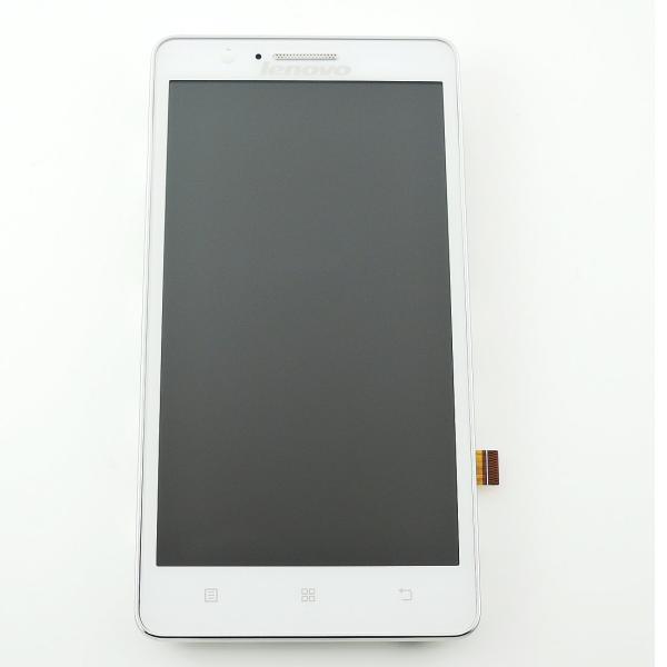 Pantalla LCD Display + Tactil con Marco Original para Lenovo A536 - Blanco