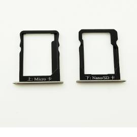 Set de Bandeja Sim y MicroSD para Huawei Mate 7 - Oro