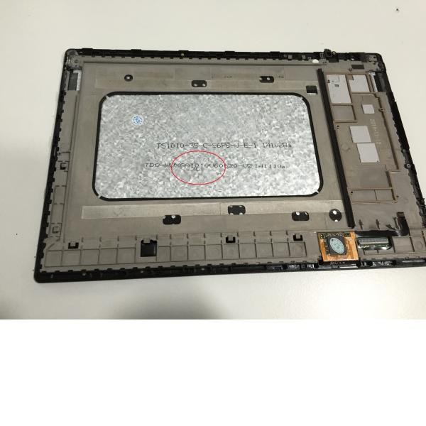 Pantalla Lcd + Tactil con Marco Original Tablet Bq Aquaris E10 Version 3G Negra - Recuperada
