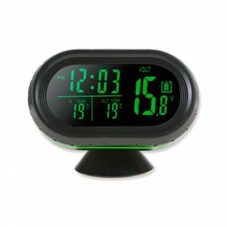 Reloj Digital, Termometro, Voltimetro
