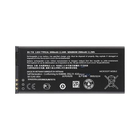 Bateria BV-T5E Original para Nokia Lumia 950, Lumia 950 Dual Sim de 3000mAH