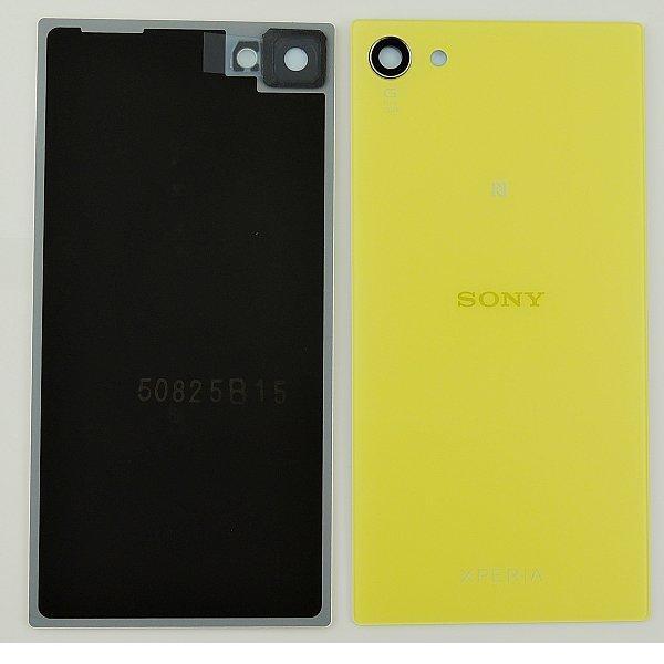 Tapa Trasera de Bateria Original para Sony Xperia Z5 Compact E5803, E5823 - Amarillo