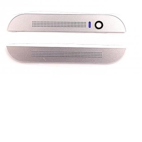 Embellecedor Superior e Inferior para HTC One M8 - Plata