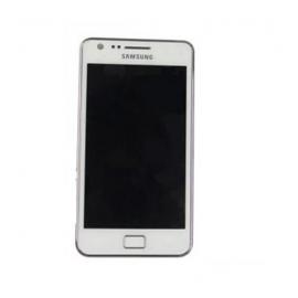 Pantalla con marco completa lcd + tactil Samsung i9100 Galaxy S2 blanca