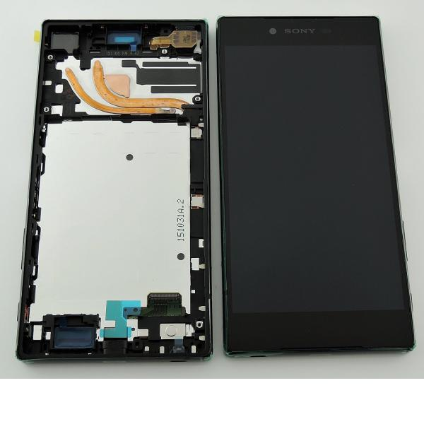 Pantalla LCD Display + Tactil con Marco (Version de 1 SIM) para Sony Xperia Z5 Premium E6853 - Negra