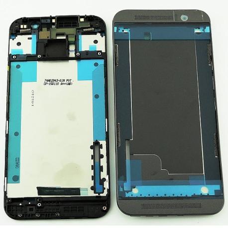 Carcasa Frontal + Embellecedor Superior e Inferior para HTC One M9 - Negra
