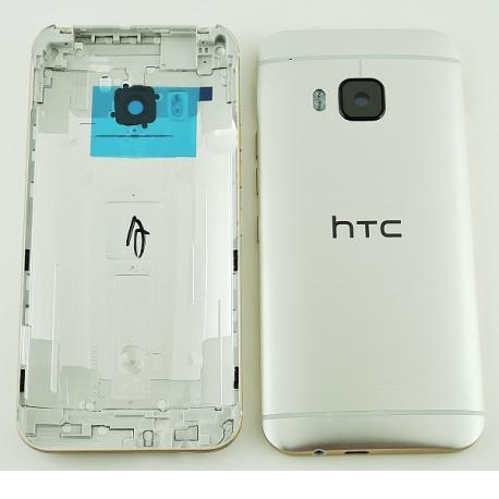Carcasa Trasera de Bateria con Lente de Camara para HTC One M9 - Plata