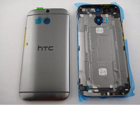 Carcasa Trasera de Bateria con Lente de Camara Original para HTC One M8 - Gris