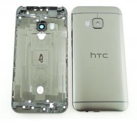 Carcasa Trasera de Bateria con Lente de Camara para HTC One M9 - Negra/Gris