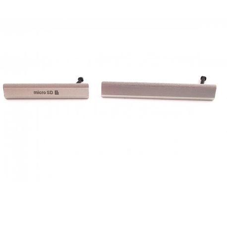 Set de Tapaderas de Tarjeta MicroSD y Conector de Carga Micro USB para Sony Xperia Z2 D6502, D6503 - Blanca
