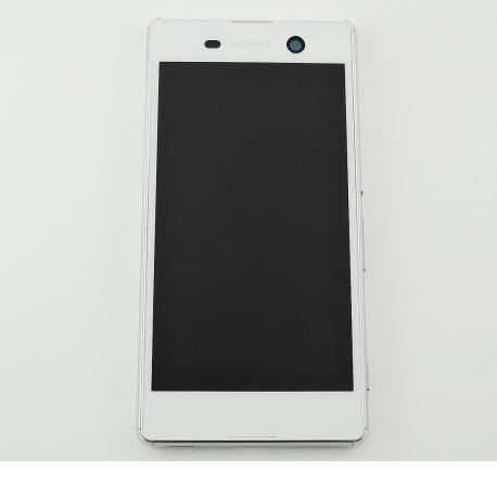 Pantalla LCD Display + Tactil con Marco Original para Sony Xperia M5 - Blanca LIQUIDACION